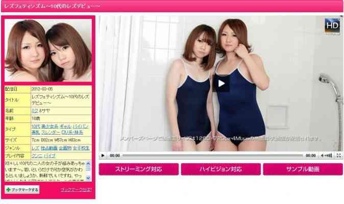 1000giri 2012-03-05 Miku & Saya レズフェティシズム~10代のレズデビュー