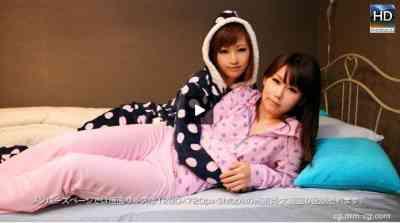 1000giri 2012-08-06 Chisato & Megumi レズフェティシズム~寝る前にすることといえば?~チサト &メグミ