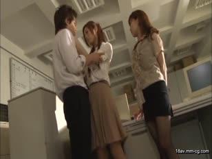 FSET-406-[中文]在公司搞不倫時,研習中的OL發情於是就一起玩三人行