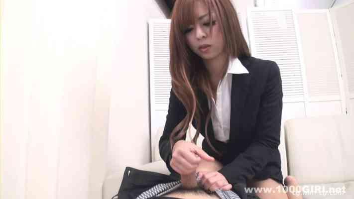 1000giri 2012-08-08 Yuria 騎乗位オナニー「スーツで股がる女」ユリア