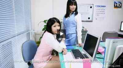 1000giri 2012-08-31 Yui & Madoka レズフェティシズム~Office Love仕事終わり ふたりのあま~い時間